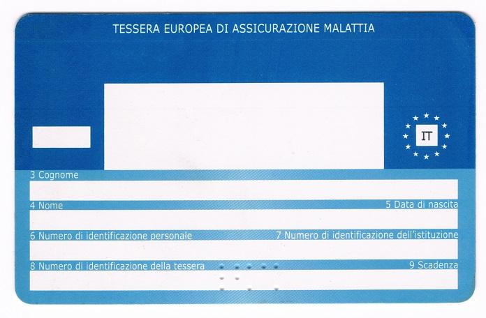 Tessera Europea di Assicurazione Malattia - 100tour