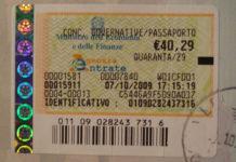 Bollo annuale sul passaporto 100tour